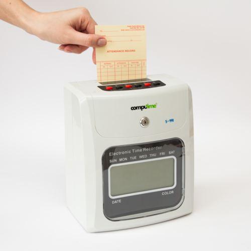 employee clocking in machine