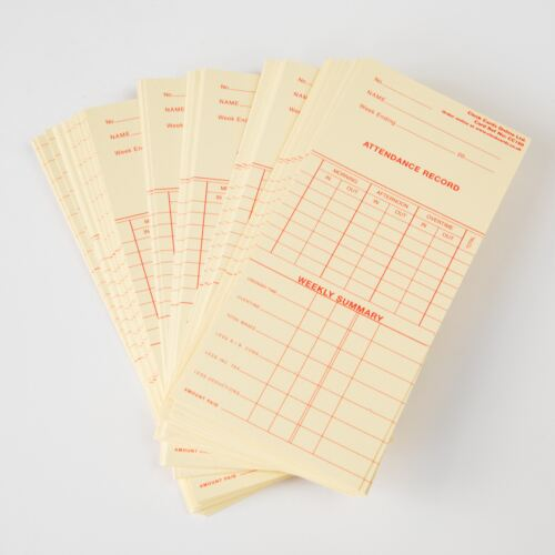 100 Weekly or 50 Monthly Clocking Cards